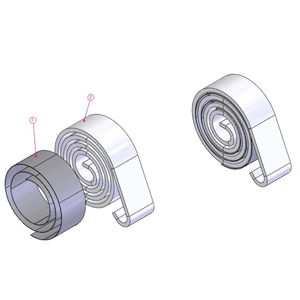 Single Spring With Strip 501 1156