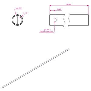 144 Aluminum Upper Arm 501 1212