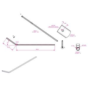 103 Aluminum Upper Arm Bent 501 1214