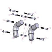 Elbow Kit For Round Steel Arm Tubes Teardrop Pullbar 501 1251
