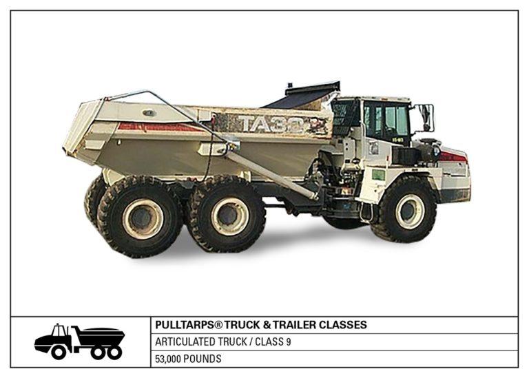 truck class, heavy haul, articulated truck, hauling, tarps, truck tarping, class 9, vehicle class