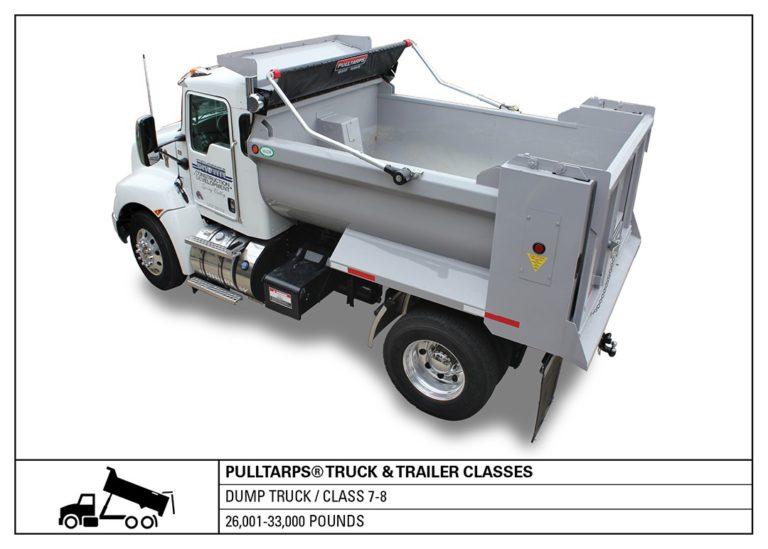 truck class, dump truck, hauling, tarps, truck tarping, class 7-8