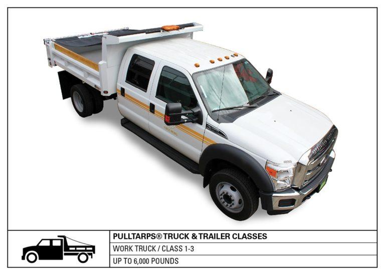 truck class, work truck, hauling, tarps, truck tarping, class 1-3